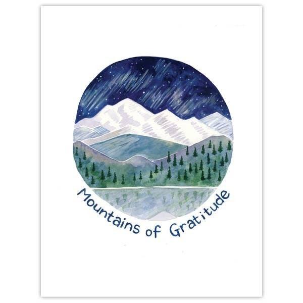 'Mountains of gratitude' thank you card