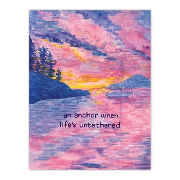 Anchor encouragement and support greeting card