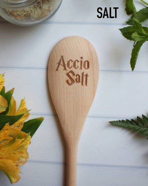 Harry Potter inspired wooden spoons