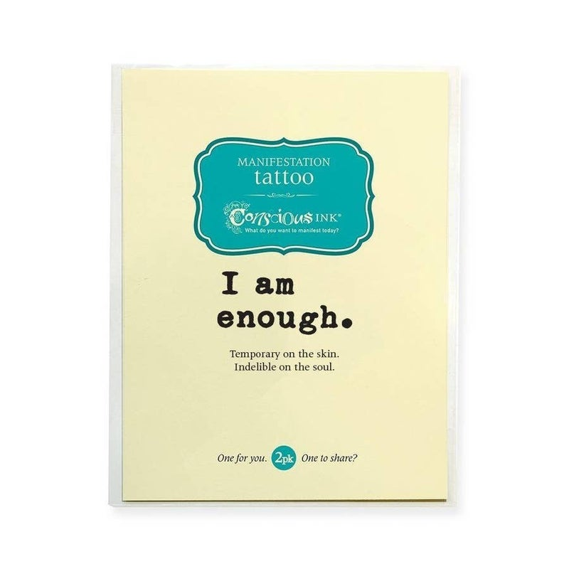 'I Am Enough' Simple Manifestation Tattoo - 2 Pack