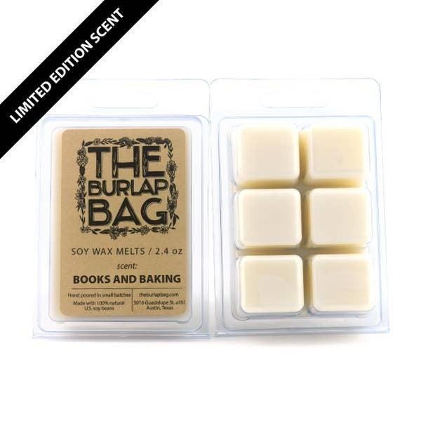 'Books and Baking' seasonal soy wax melts - The Burlap Bag