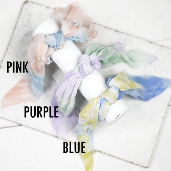 Tie-Dye Hair Scrunchie Scarves