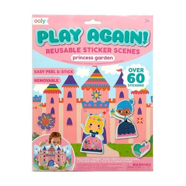 'Play Again!' reusable sticker scenes: 'Princess Garden'