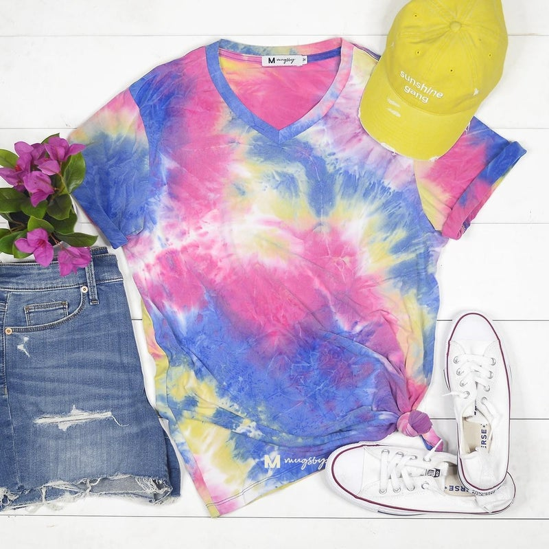 Soft and Dreamy Tie-Dye v-neck Tee
