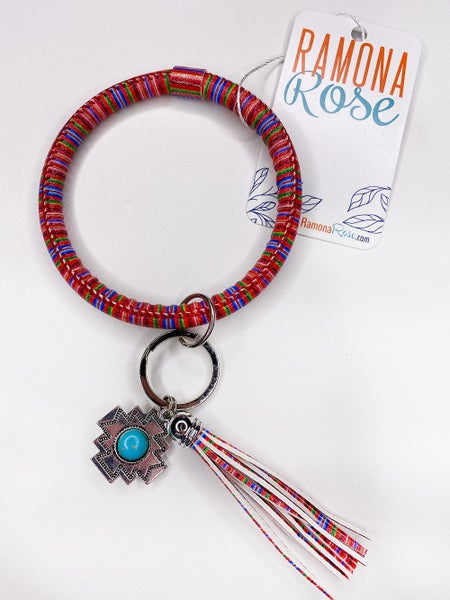 Bangle keychain aztec tassel