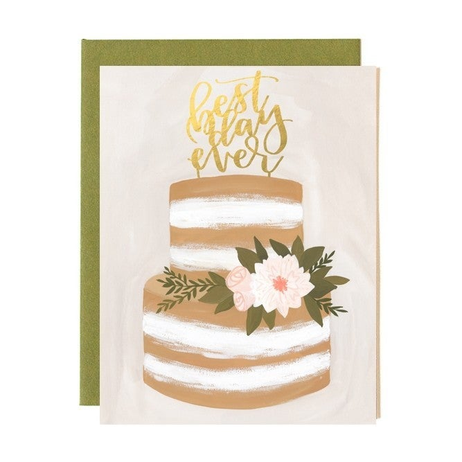 """""""Best Day Ever"""" Wedding Greeting Card"""