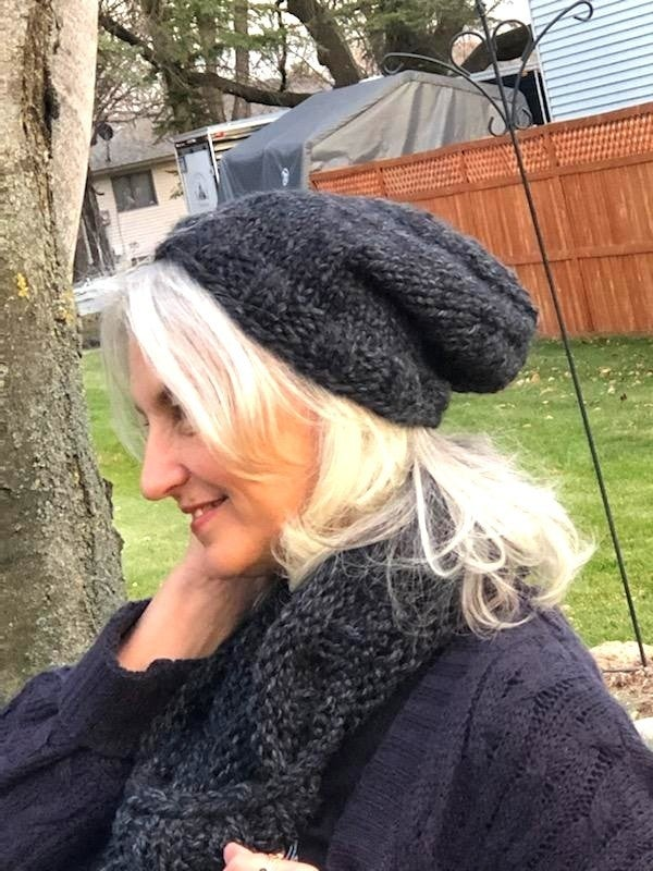 Handmade Cowl and Slouch Beanie Set (Made in Olympia!)