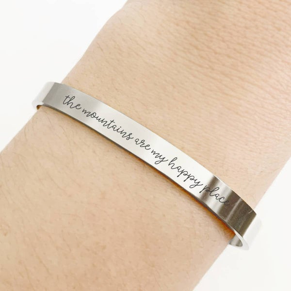 Anchored Inspirations Cuff Bracelet Stainless Steel misc print