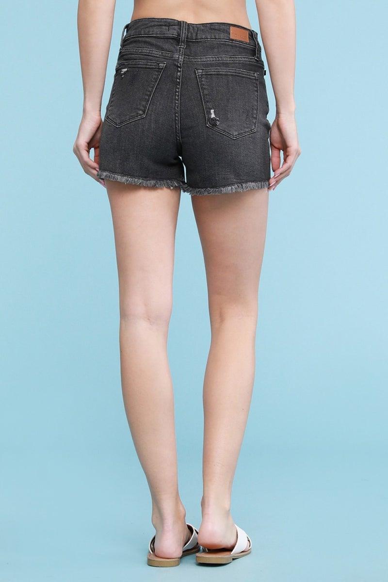 Judy Blue Grey cut-off shorts