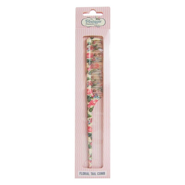 Floral Tail Comb - Vintage Cosmetic Company