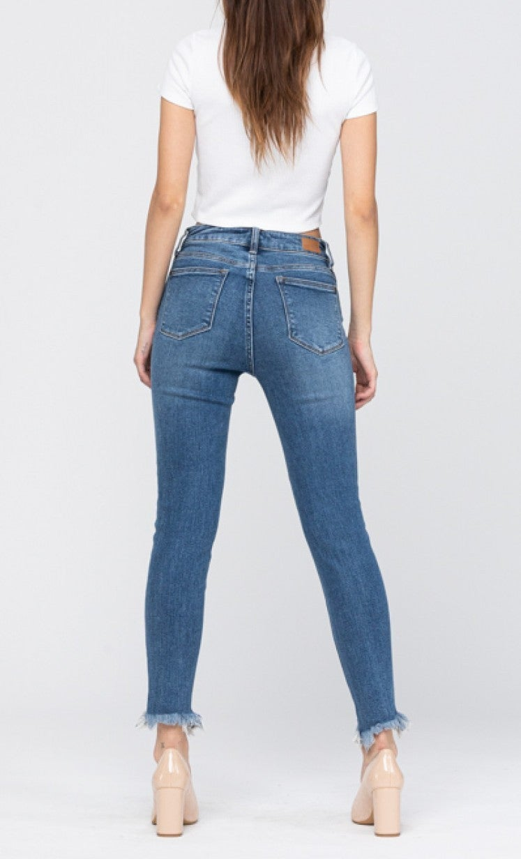 Judy Blue Medium Wash Shark Bite Skinny