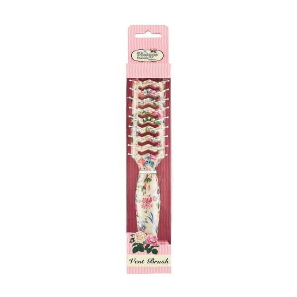 Floral Vent Hair Brush - Vintage Cosmetic Company