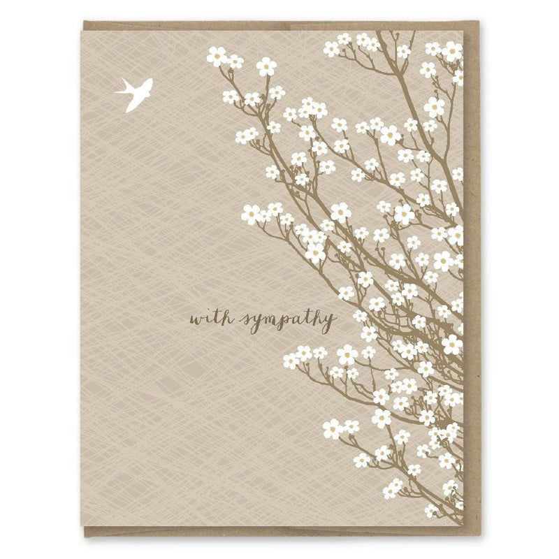 """""""With Sympathy"""" Cherry Blossoms Card"""