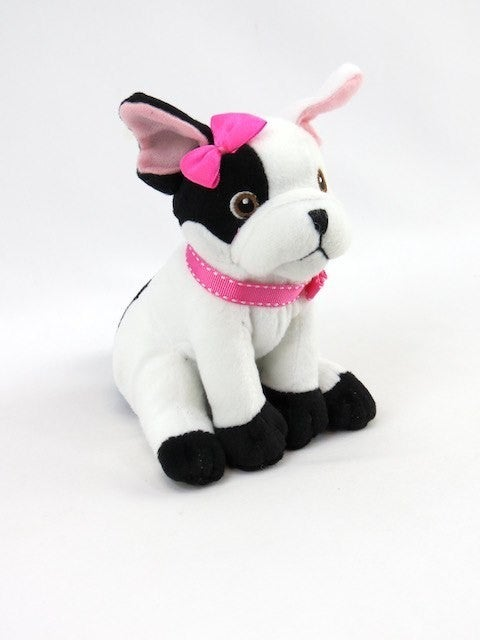 Black and White Puppy Dog - 18 inch doll toy