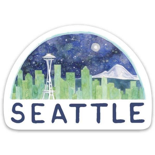 Seattle Skyline Sticker