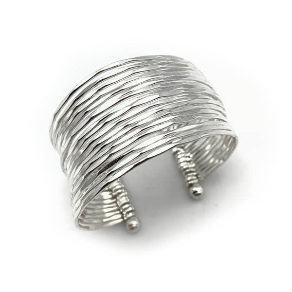 Silver Plated Adjustable Cuff Bracelet : Anju