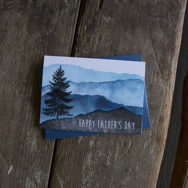 Happy Father's Day mountain landscape