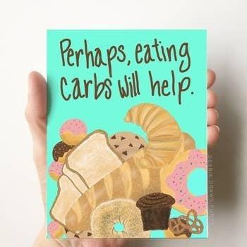 Eating carbs card