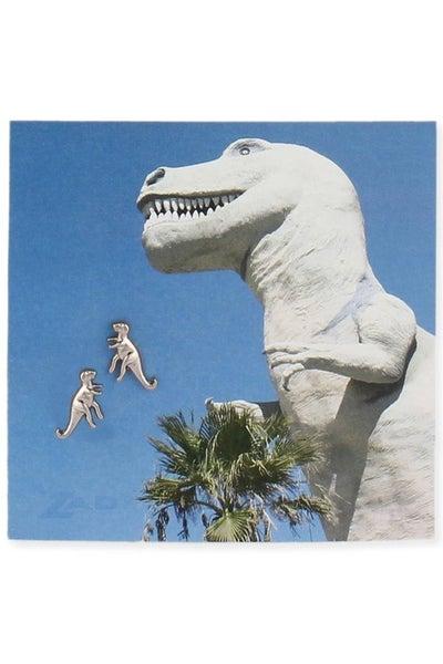 T-Rex dino post earrings