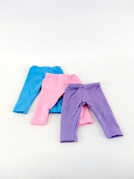 Trio pack of leggings : 18-inch doll clothing