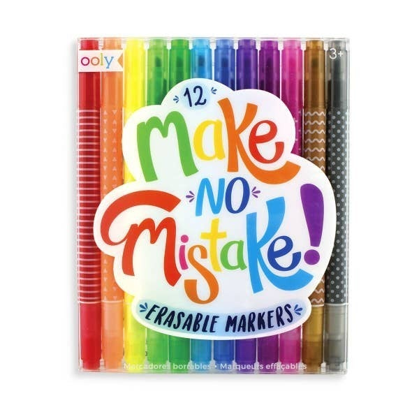 'Make No Mistake' erasable markers