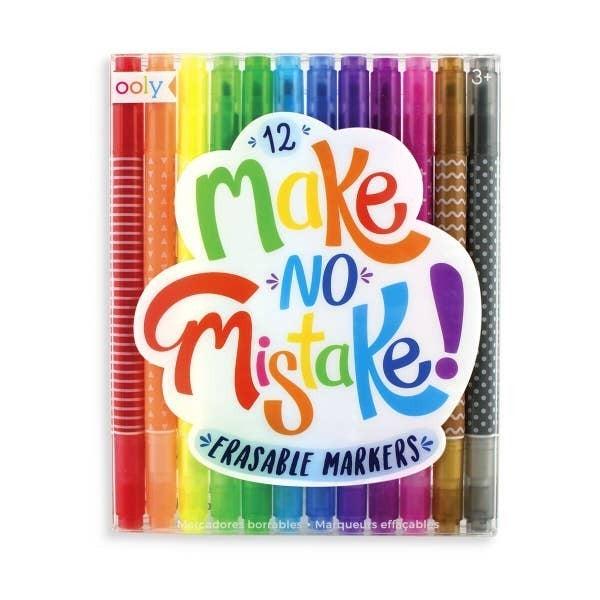 'Make No Mistake' erasable markers