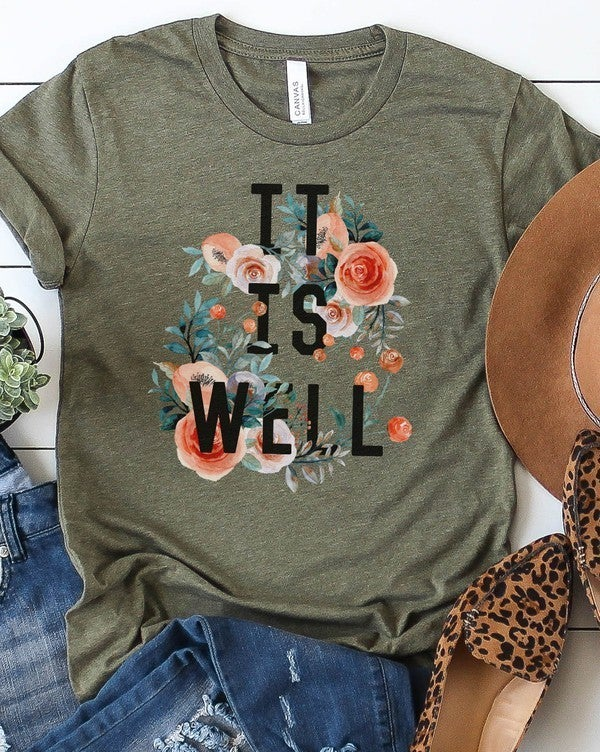 """'It is Well"""" graphic tee"""