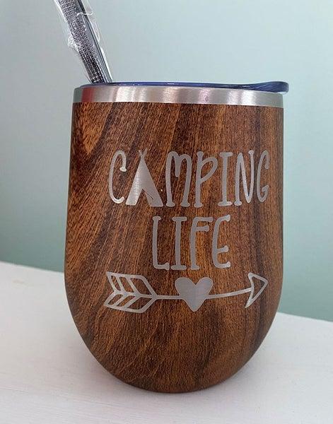 Camping Life Wine Tumbler