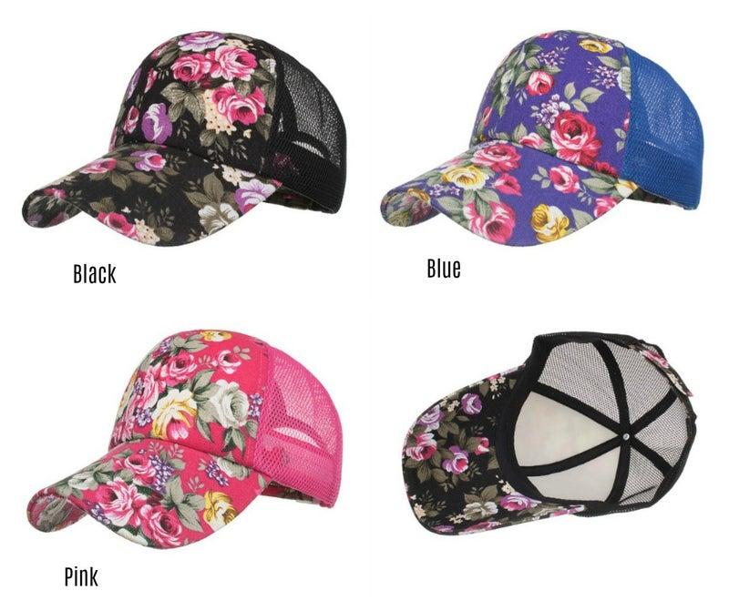 Flower pattern baseball hat