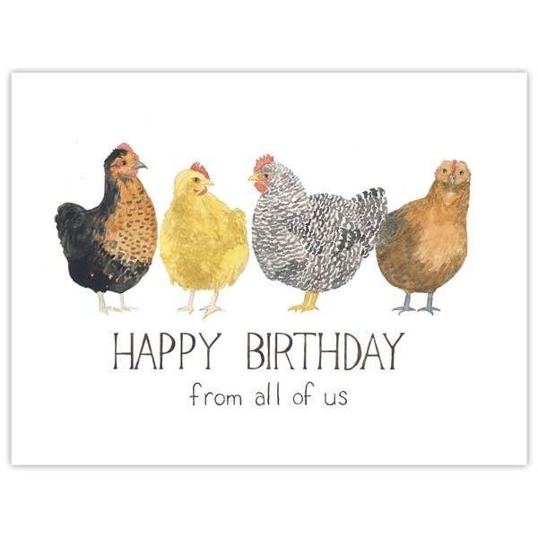 "Chickens ""Happy Birthday birthday card"