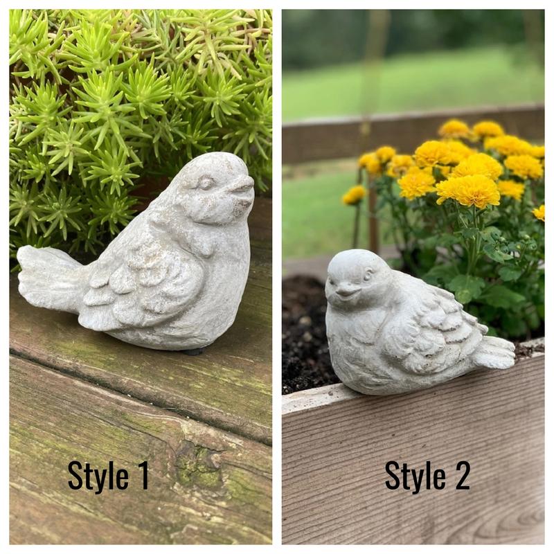 Sitting Cement Bird Statue