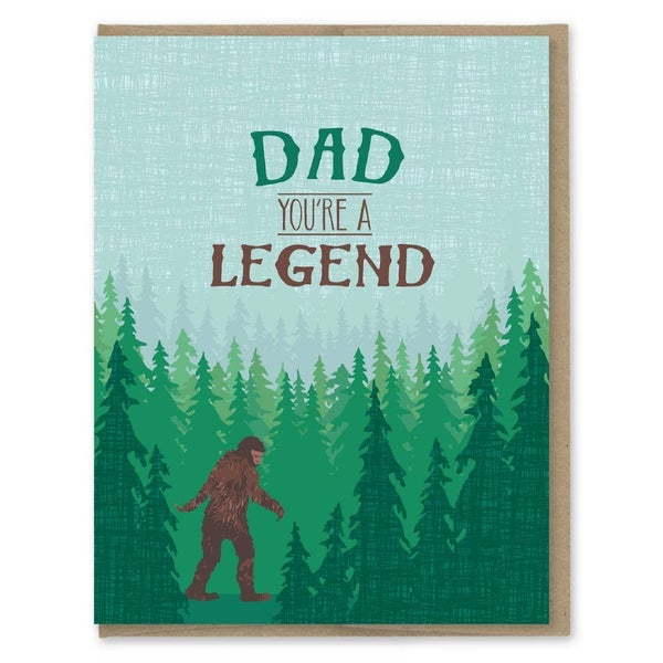 Sasquatch Legend Dad Card