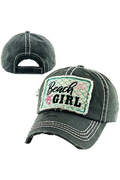 'Beach Girl' distressed hat