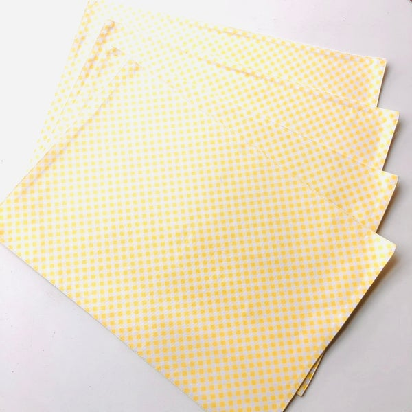 Spring Yellow Gingham Placemats, set of 4