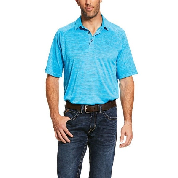 Ariat Men's Nautilus Blue Charger Polo