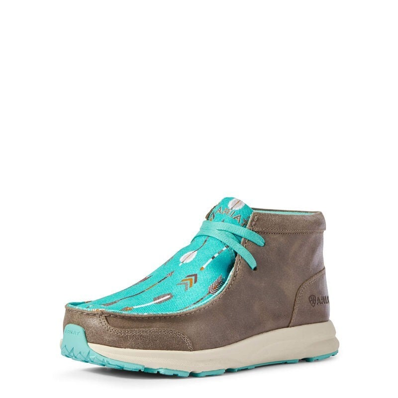 Ariat Granite Suede/Turquoise Arrows Spitfire Shoe