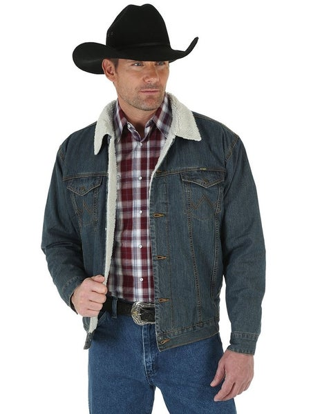 Wrangler Western Sherpa Lined Denim Jacket - Unisex Fit