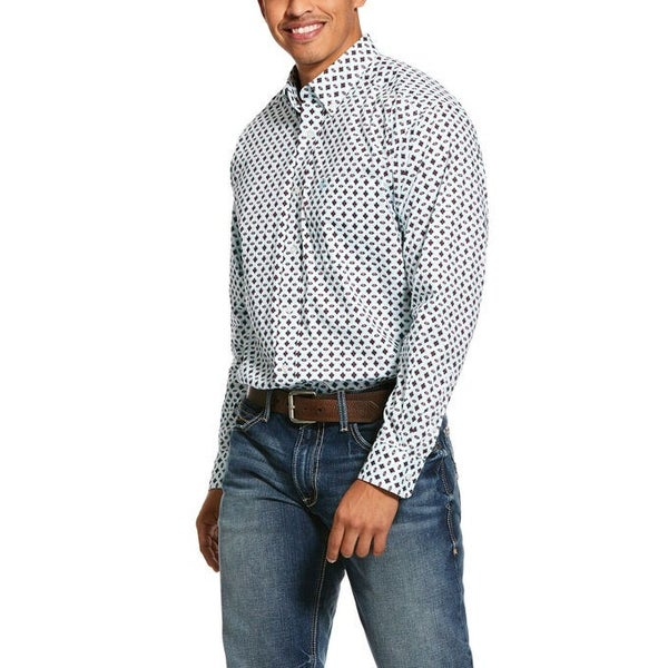 Ariat Men's Kaleb Print Stretch Classic Fit Shirt