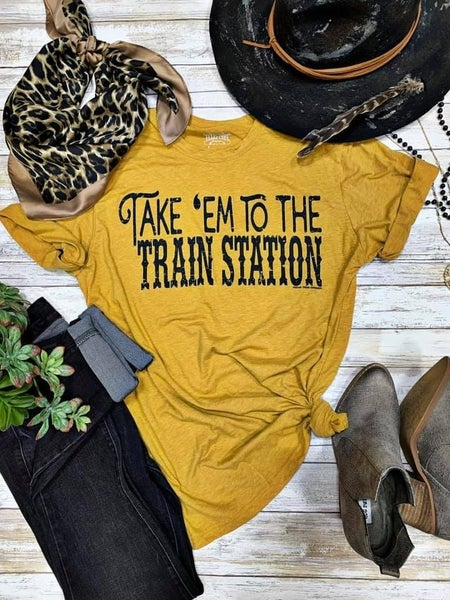 Mustard Take Em' To The Train Station Tee