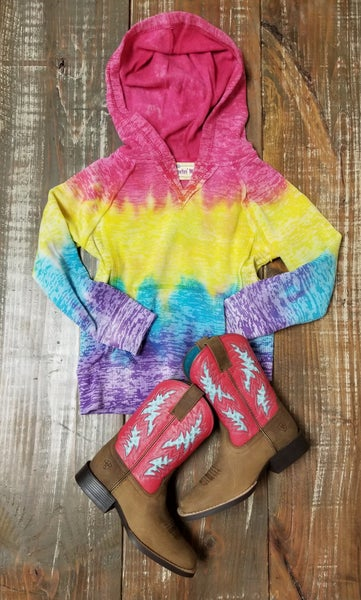 Youth Tie Dye Hooded Sweatshirt