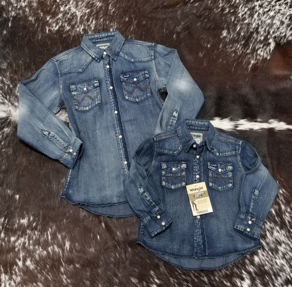 Wrangler KIDS Vintage Denim Snap Shirt