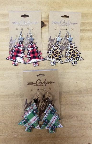 Cheeky's Christmas Tree Earrings