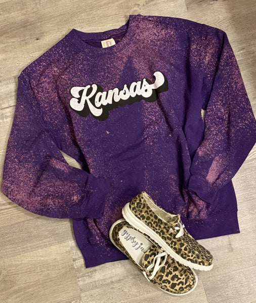 Kansas Purple Bleach Sweatshirt