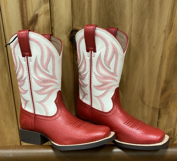 Ariat Girls Champ Red/White Boot