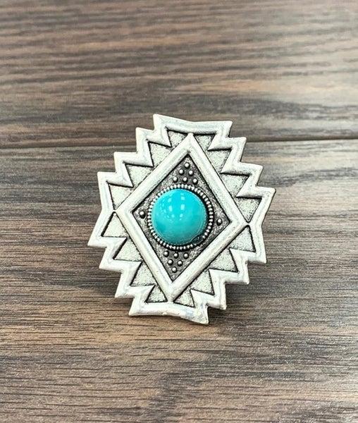 Piqua Turquoise Aztec Flare Ring