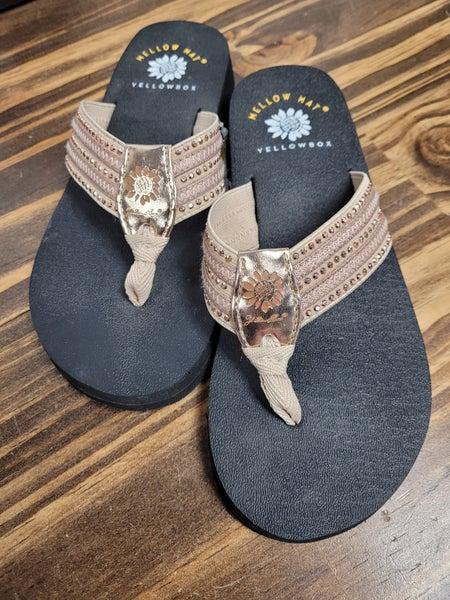 Yellowbox Ladies Rose Gold Sandal