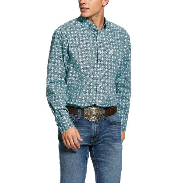 Ariat Men's Kerrington Print Stretch Classic Fit Shirt