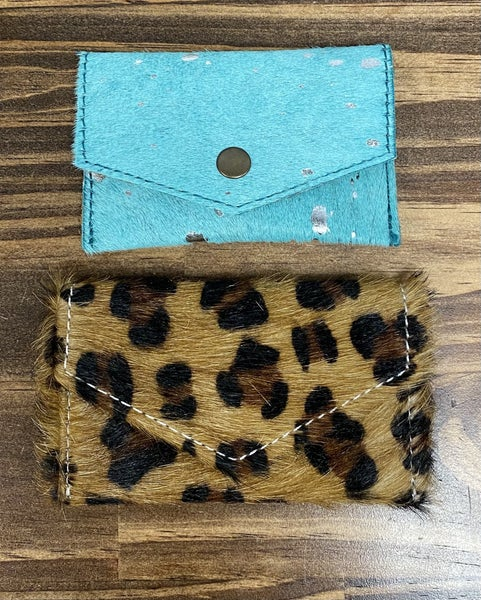 AD Turquoise or Leopard Card Holder