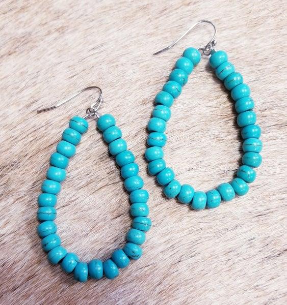 Cheeky's Turquoise Stone Bead Earrings
