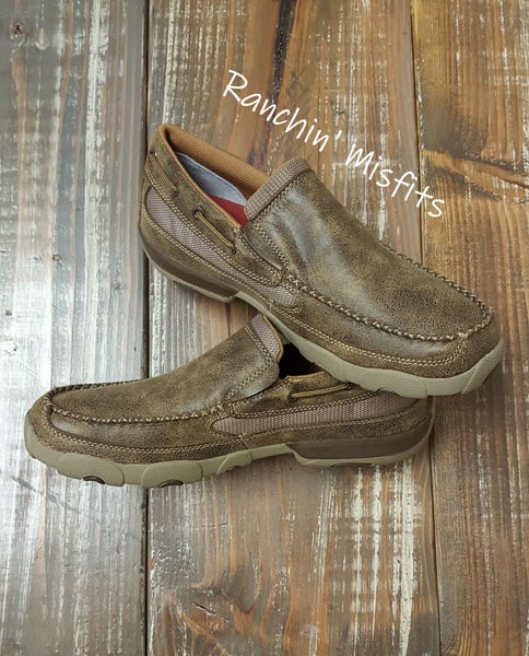 Twisted X Bomber Men's Driving Mocs Slip On
